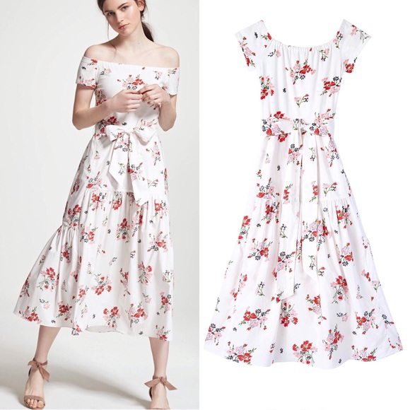 df9bc3ee57dc1d Rebecca Taylor Marguerite Floral Dress